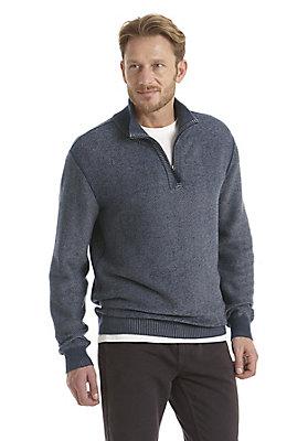 neu-herren-bekleidung - Pullover mit Zipkragen aus reiner Bio-Baumwolle