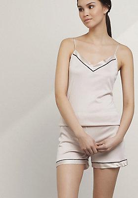 - Pyjama-Shorty aus Bio-Baumwolle mit Seide