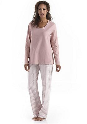nachtwaesche-blau-rosa - Pyjamahose aus reiner Bio-Baumwolle