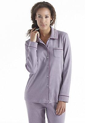 Schlafwäsche - Pyjamaoberteil aus reiner Bio-Baumwolle