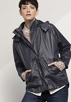 - Regenjacke aus reiner Bio-Baumwolle