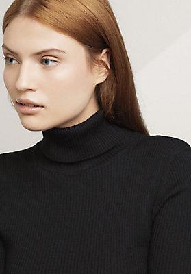 - Rollkragen Pullover aus reiner Bio-Merinowolle