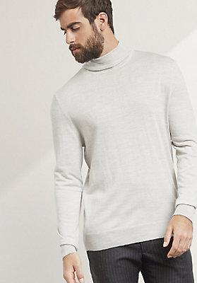 - Rollkragen-Pullover aus reiner Bio-Schurwolle