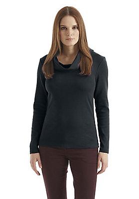 - Rollkragen-Shirt aus reiner Bio-Baumwolle