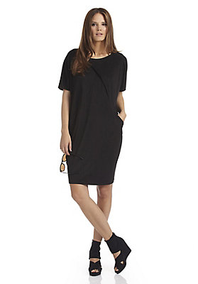 trends-fruehling-oversized - Seidenkleid mit feinem Baumwoll-Jersey