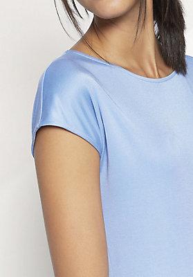 - Shirt aus Baumwolle mit Seide