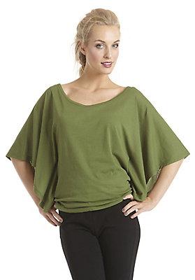 - Shirt mit Fledermausärmeln aus reiner Bio-Baumwolle