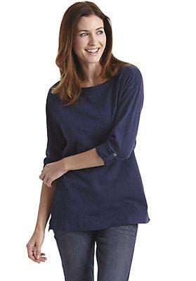 damen-neuheiten-herbst-kollektion-2014 - Shirt mit Krempelarm aus reiner Bio-Baumwolle