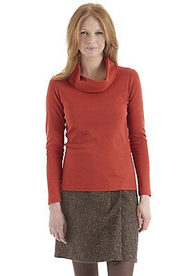 - Shirt mit Rollkragen aus reiner Bio-Baumwolle