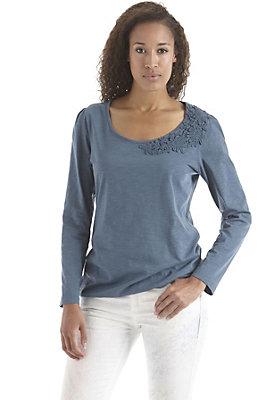 damen-neuheiten-herbst-kollektion-2014 - Shirt mit Spitze aus reiner Bio-Baumwolle