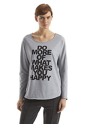 - Shirt mit Statement-Print auf reiner Bio-Baumwolle
