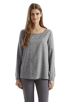 - Shirtbluse mit Minimal-Print aus reinem Modal