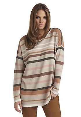 - Streifen-Pullover aus Leinen mit Seide
