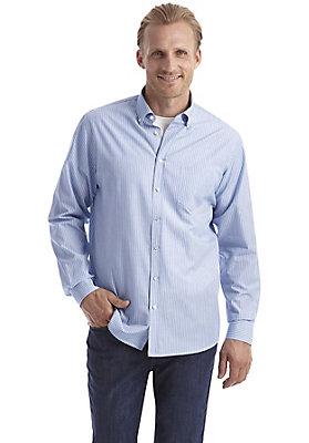 herrenkollektion-in-blau - Streifenhemd comfort fit aus reiner Bio-Baumwolle