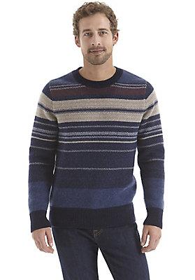 herrenkollektion-in-blau - Streifenpullover aus reiner Lambswool