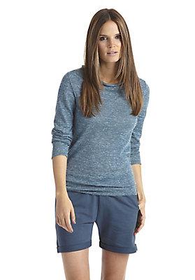 - Strick-Pullover aus Alpaka mit Leinen