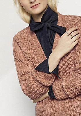 - Strickjacke aus Alpaka mit Baumwolle