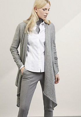 - Strickjacke aus Bio-Baumwolle mit Mohair und Seide