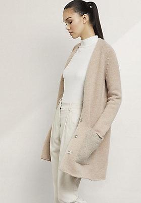 - Strickjacke aus Schurwolle mit Alpaka
