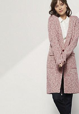 - Strickjacke aus Schurwolle mit Baumwolle