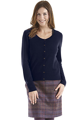 Pullover-und-Strickjacken Damen - Strickjacke aus reiner Bio-Merinowolle