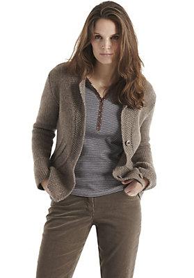 Pullover-und-Strickjacken Damen - Strickjacke aus reiner Merinowolle