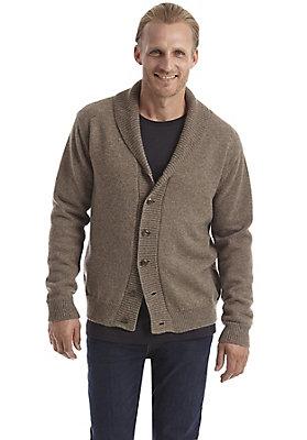 Pullover-und-Strickjacken Herren - Strickjacke aus reiner Schurwolle