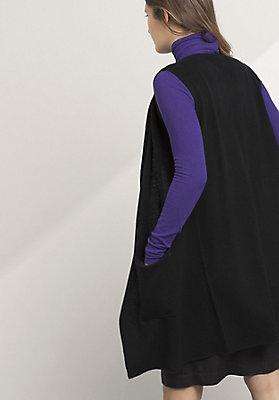 - Strickweste aus Schurwolle mit Kaschmir