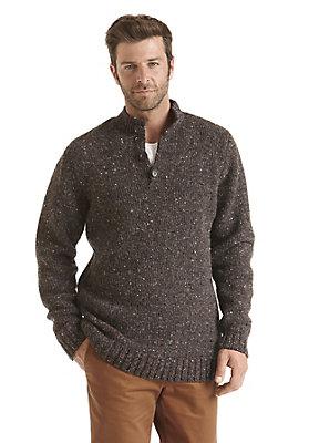 - Tweed-Pullover aus reiner Schurwolle