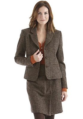 damenkleidung-aus-schurwolle - Tweedblazer
