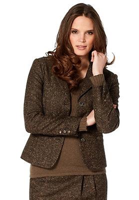 damenkleidung-aus-schurwolle - Tweedblazer aus reiner Schurwolle