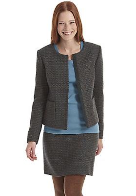 Jacken - Tweedjacke aus reiner Schurwolle