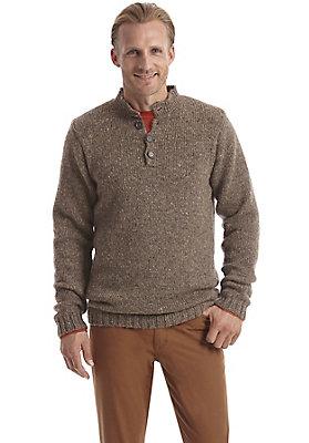 Pullover-und-Strickjacken Herren - Tweedpullover aus reiner Schurwolle