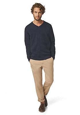- V-Pullover Basic aus reiner Bio-Baumwolle