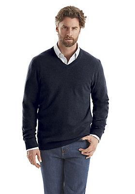 - V-Pullover aus reinem Kaschmir