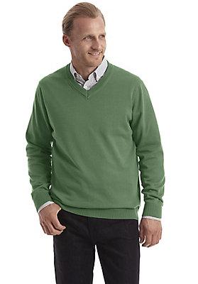 - V-Pullover aus reiner Bio-Baumwolle