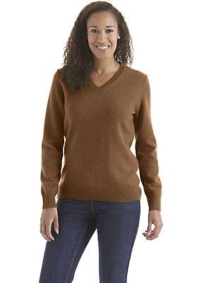 - V-Pullover aus reiner Schurwolle