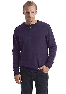Pullover-und-Strickjacken Herren - V-Pullover aus reiner Schurwolle