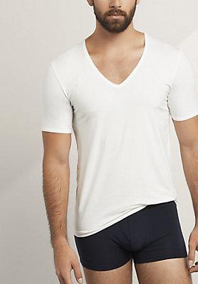 - V-Shirt aus Bio-Baumwolle und Modal