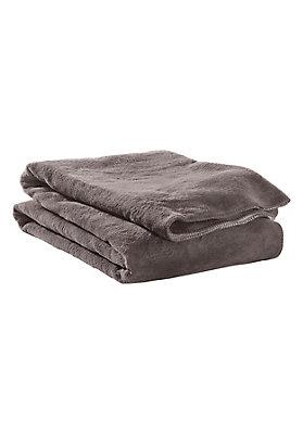 - Velours-Decke aus reiner Bio-Baumwolle