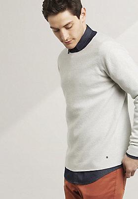 - Walk-Pullover aus reiner Schurwolle
