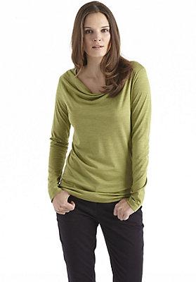 - Wasserfall-Shirt aus Bio-Schurwolle mit Seide