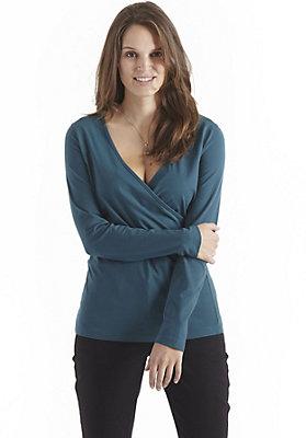 damen-neuheiten-herbst-kollektion-2014 - Wickelshirt aus reiner Bio-Baumwolle
