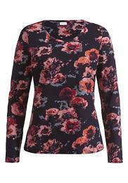 Blumenmuster-Shirt aus reiner Bio-Baumwolle