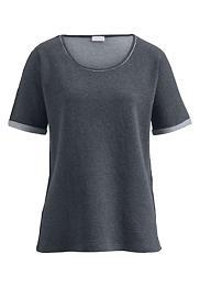 Damen Doubleface-Shirt aus Bio-Baumwolle mit Kaschmir