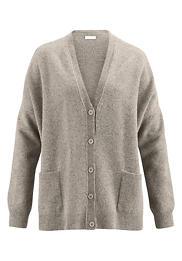 Damen Lambswool-Strickjacke aus reiner Schurwolle