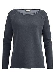 Doubleface-Shirt aus Bio-Baumwolle mit Kaschmir