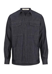 Herren Jeans Hemdjacke aus reiner Bio-Baumwolle