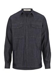 Jeans Hemdjacke aus reiner Bio-Baumwolle