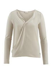 Jersey-Bluse aus Modal mit Seiden-Crêpe